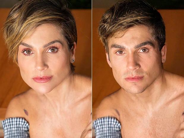 Flavia Alessandra ficou a cara do ator Claudio Heinrich (Foto: Reprodução/Instagram)