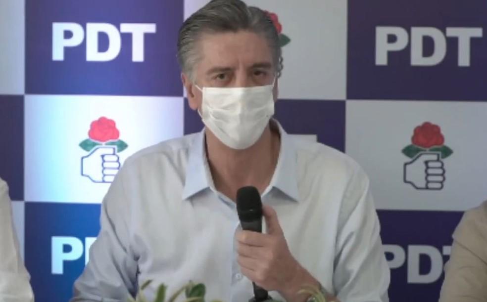 Dagoberto Nogueira foi oficializado pelo PDT como candidato a prefeito em Campo Grande — Foto: Reprodução/Redes Sociais