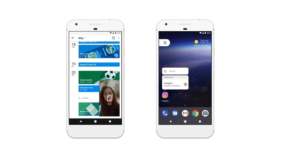 Android 8.0 Oreo: funções Picture-in-picture e Pontos de notificação (Foto: Divulgação/Google)