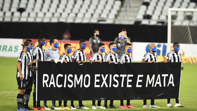 Botafogo faz ação contra o racismo