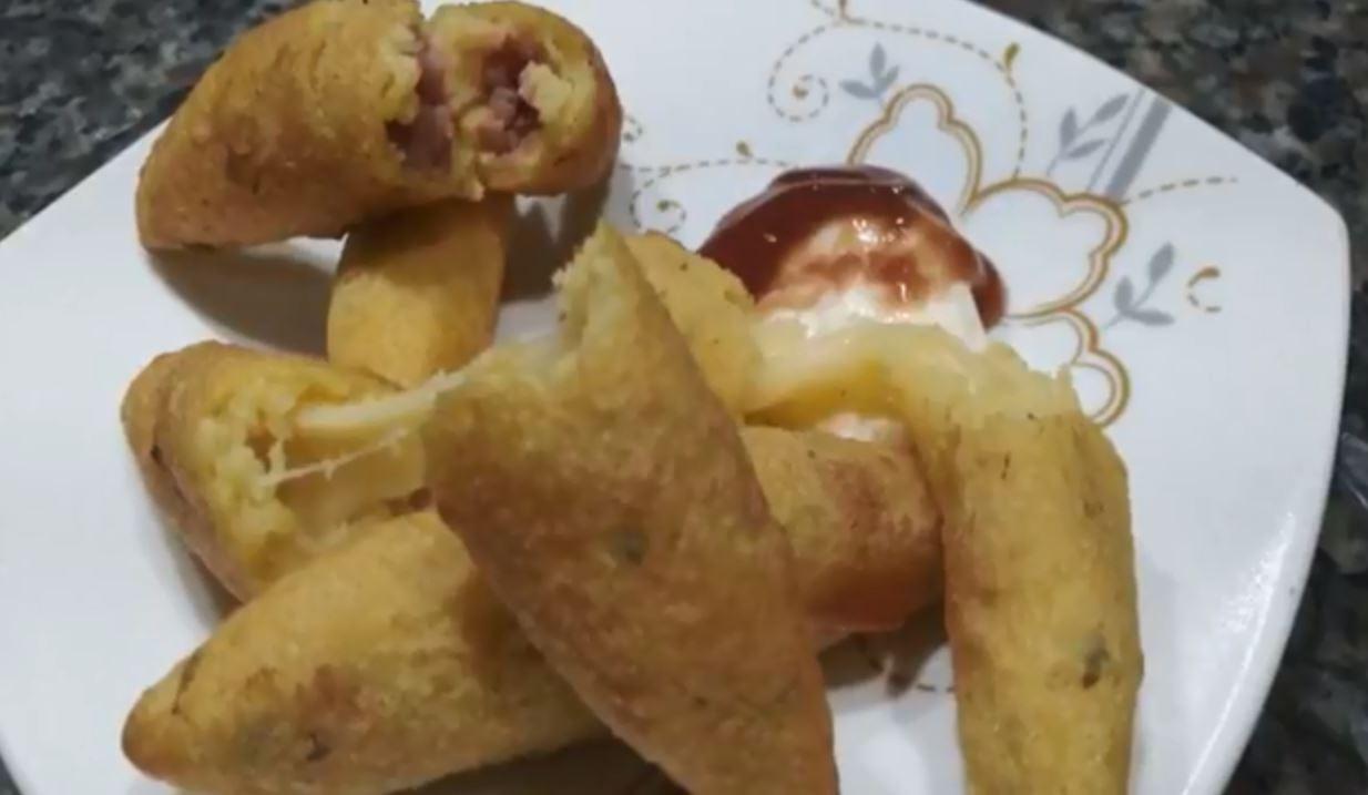 Aprenda receita de polenta recheada frita