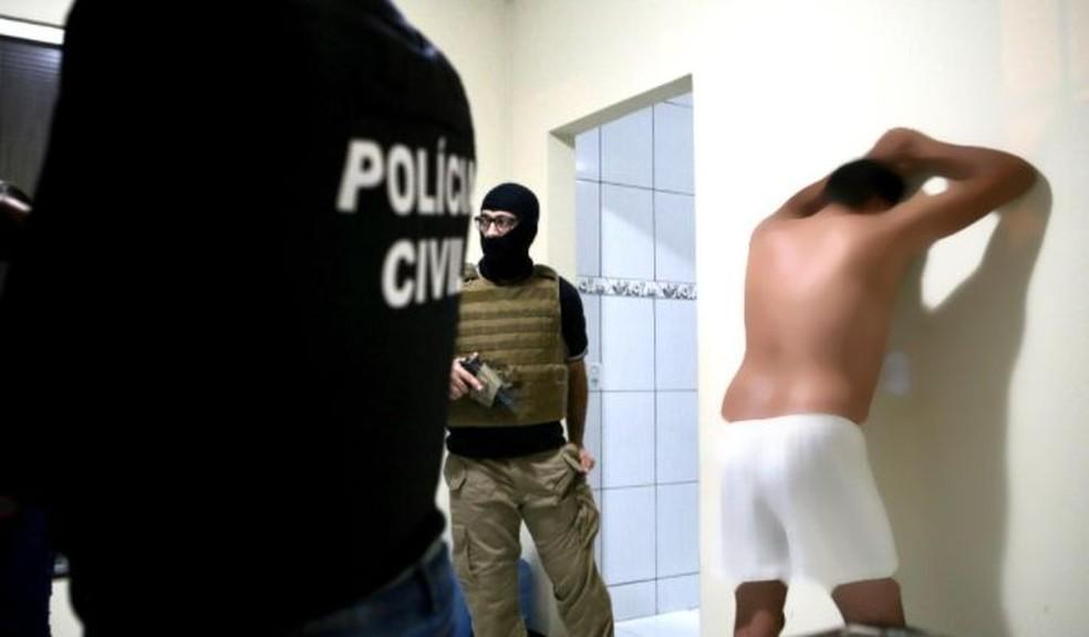 Polícia realiza operação em Sergipe — Foto: Jorge Henrique/SSP/SE