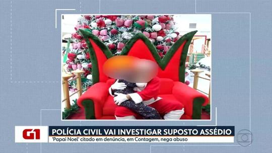 G1 no MG1: Papai Noel suspeito de assédio nega crime e diz ter doença nos testículos