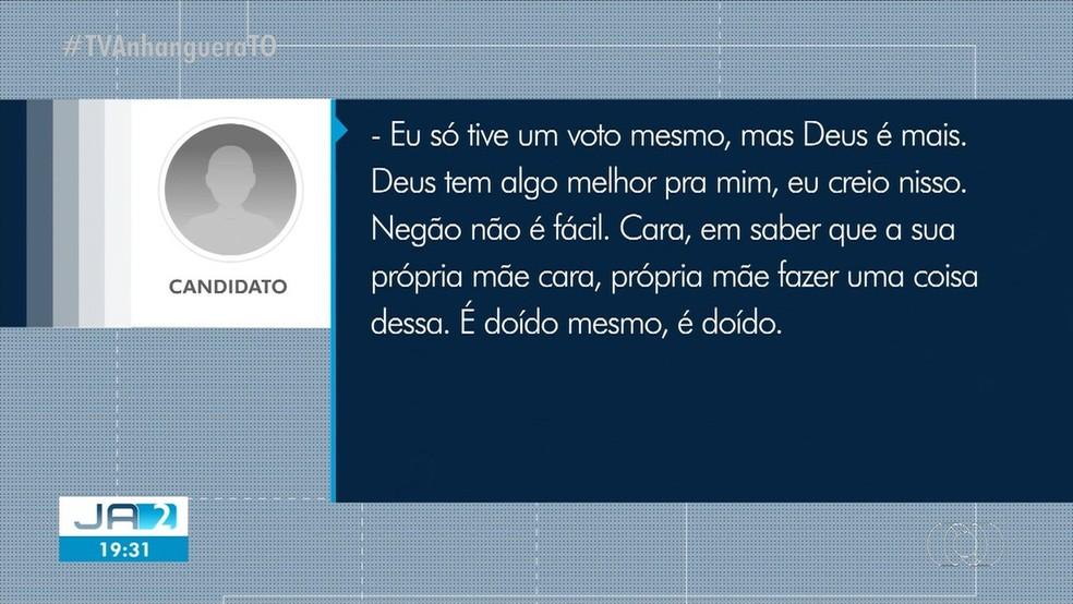 Áudios de candidatos derrotados acabaram viralizando — Foto: Reprodução/TV Anhanguera