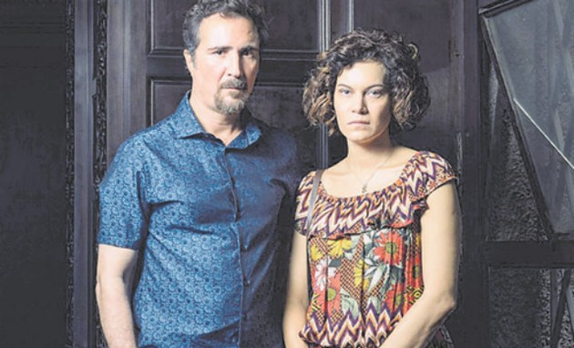 Hermila Guedes e João Miguel (Foto: Ramon Vasconcelos/TV Globo)