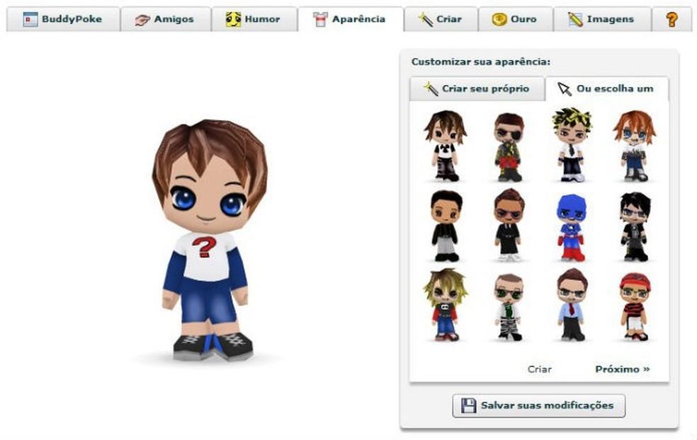 BuddyPoke era muito popular no Orkut — Foto: Reprodução/Elson de Souza