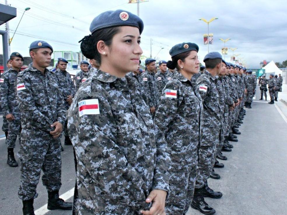 Polícia Militar Amazonas, mulheres, mulher, policial, concurso público, PM (Foto: Camila Henriques/G1)