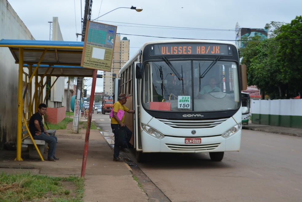 Porto Velho passa por crise no transporte coletivo.  — Foto: Hosana Morais/Rede Amazônica