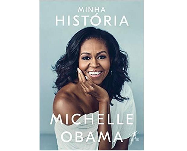 Lançado em novembro deste ano, o livro de Michelle Obama, Minha História, já é sucesso de vendas. O relato íntimo, poderoso e inspirador da ex-primeira-dama dos Estados Unidos é um presentão. Objetiva, R$59,90.  (Foto: Divulgação)
