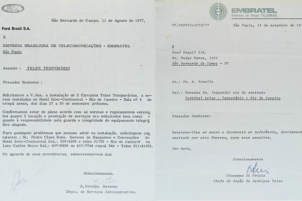 Apenas para alugar um telex para uso pelos jornalistas durante o evento foram necessárias várias trocas de correspondência com a Embratel, que tinha monopólio das linhas (Foto: Acervo MIAU)