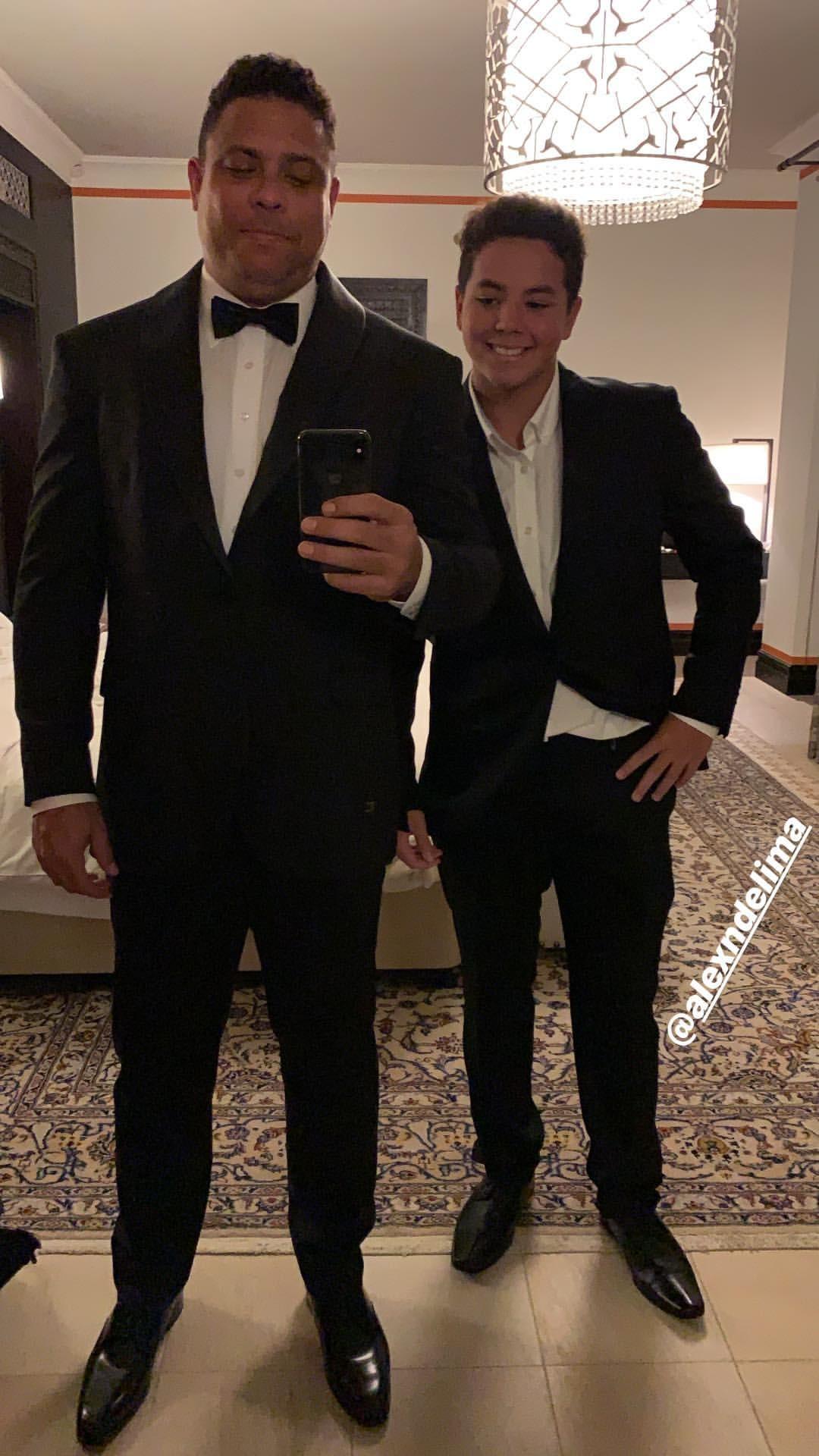 Ronaldo e Alex (Foto: Reprodução)