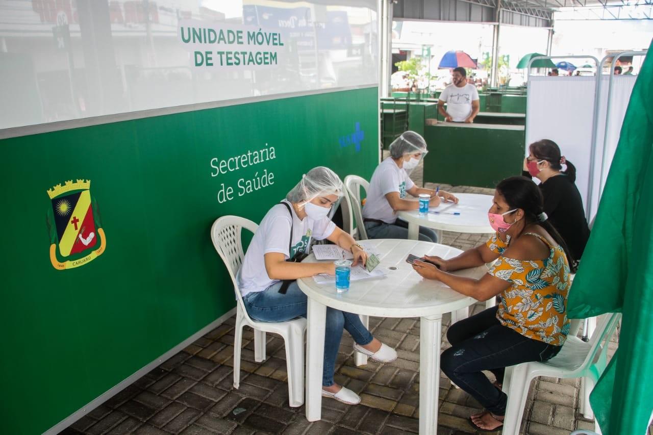 Comércio na Praça volta a funcionar com protocolos e realização de testes em Caruaru
