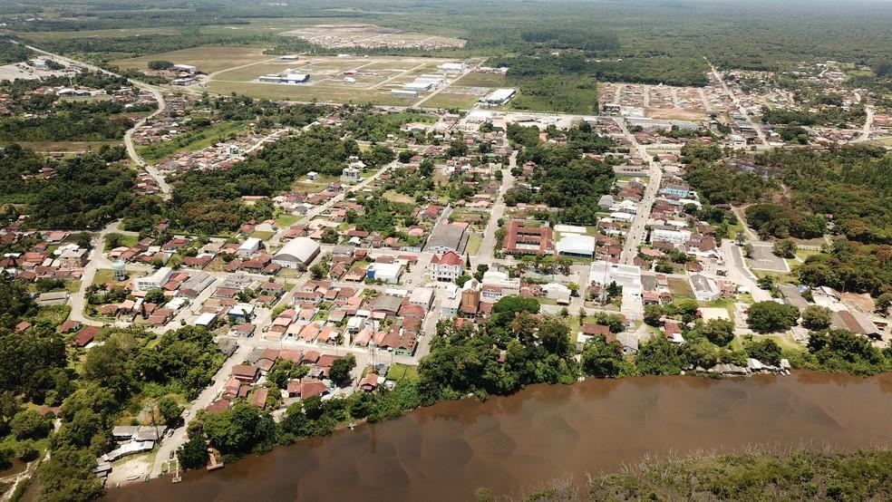 Vista aérea de Araquari — Foto: Prefeitura de Araquari