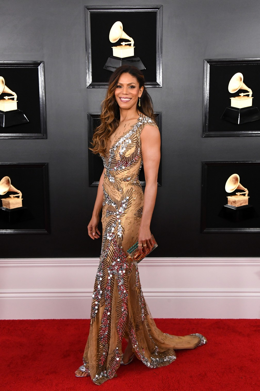 Atriz e cantora Merle Dandridge no Grammy 2019 — Foto: Jon Kopaloff/Getty Images North America/AFP