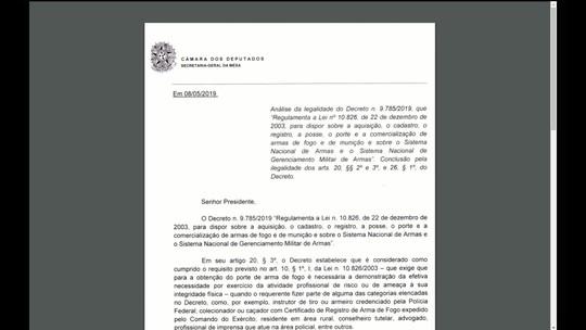 GloboNews mostra documento com inconstitucionalidades relacionadas ao decreto das armas