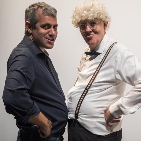 Mauricio Rizzo e Ney Latorraca (Foto: TV Globo/Victor Pollak)