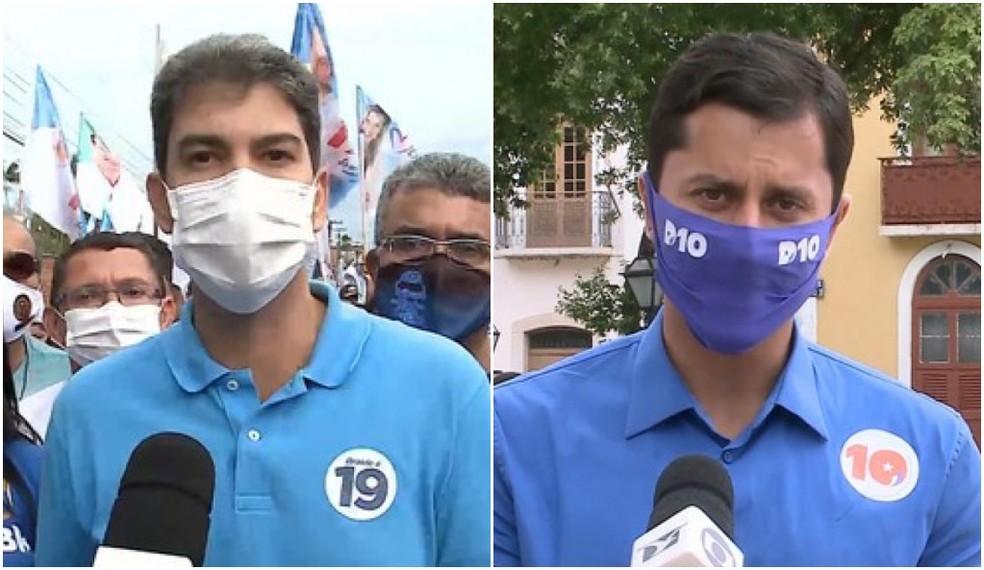 Eduardo Braide (Podemos) e Duarte Júnior (Republicanos) — Foto: Reprodução/TV Mirante