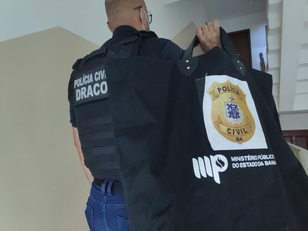 Sefaz inicia operação contra grupo suspeito de sonegação fiscal e lavagem de dinheiro em comércio de materiais de construção na BA — Foto: Divulgação/Polícia Civil - BA