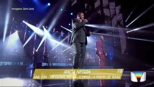 Show do Raça Negra é destaque no fim de semana no Vale do Paraíba e região