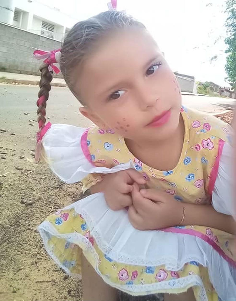 Yasmin Lemos Campos, de 4 anos, morreu após ser picada por um escorpião no quintal de sua casa em Cabrália Paulista — Foto: Arquivo pessoal