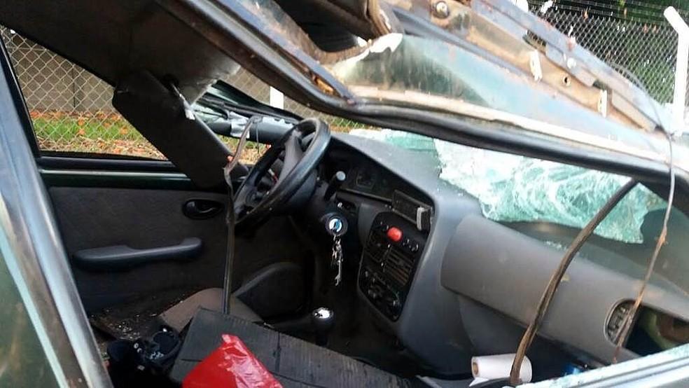 Capotagem deixa dois mortos em Ibaté (Foto: A Cidade On/São Carlos)