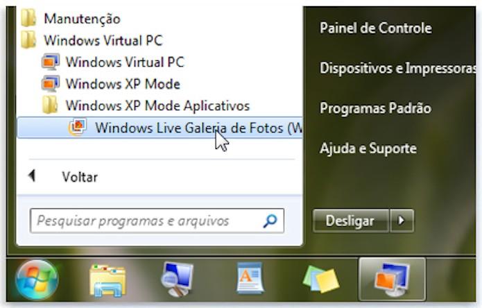 Modo Windows XP, recurso disponível no Windows 7 (Foto: Divulgação/Microsoft)