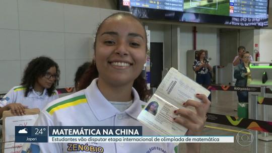 Estudantes de escola pública na Baixada Fluminense embarcam para competição de matemática na China