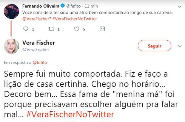 Vera Fischer responde fãs no Twitter (Foto: reprodução)