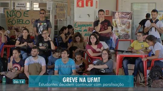 Estudantes da UFMT em Rondonópolis mantêm greve mesmo após anúncio de suspensão de reajuste na alimentação