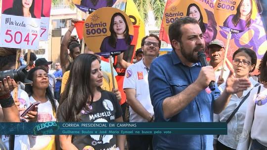 Em Campinas, Boulos critica encontro de Haddad com Renan e diz ser único candidato que 'enfrenta de verdade esse sistema'