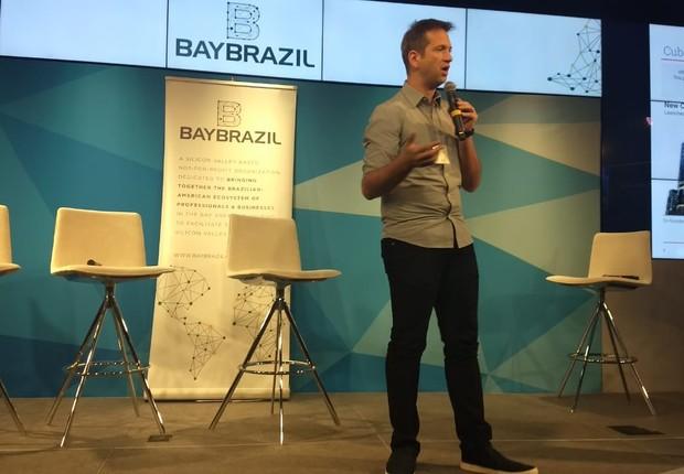 Flávio Pripas, diretor do Cubo, no Conference Brazil – In the 21 Century, promovido pela BayBrazil, em San Francisco, nos Estados Unidos (Foto: Fabiano Candido/Época NEGÓCIOS)
