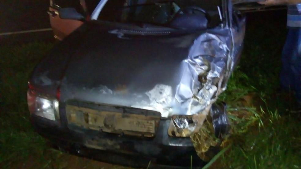 Motorista do veículo foi levado em estado grave ao hospital de Catanduva (Foto: Arquivo Pessoal )