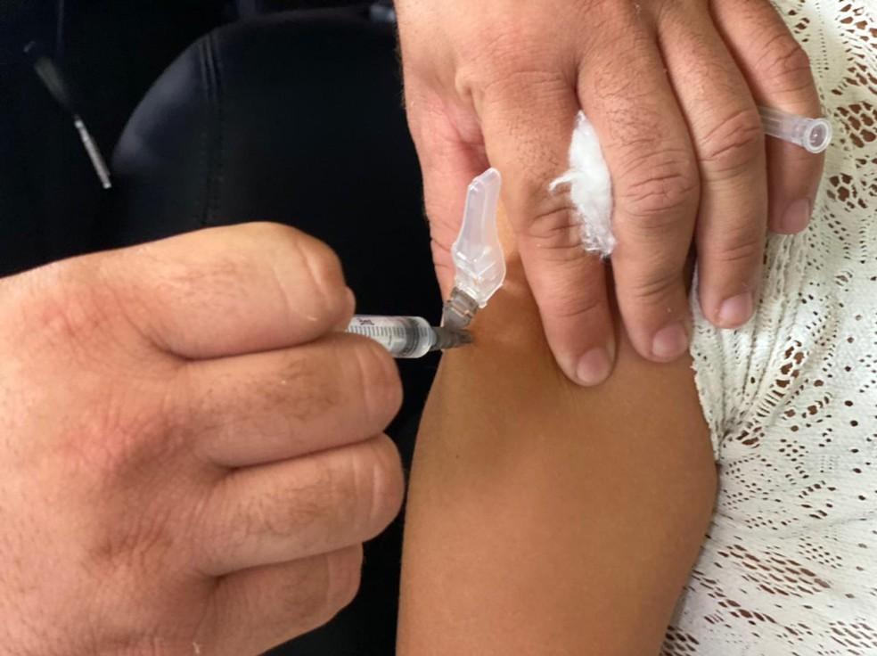 Municípios potiguares realizam mutirão de vacinação com D2 neste sábado (28) — Foto: Kleber Teixeira/Inter TV Cabugi