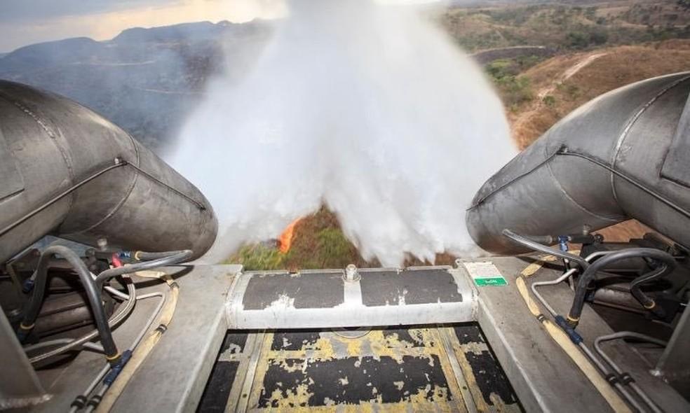 FAB diz que avião tem capacidade para 12 mil litros de água â?? Foto: FAB/Divulgação