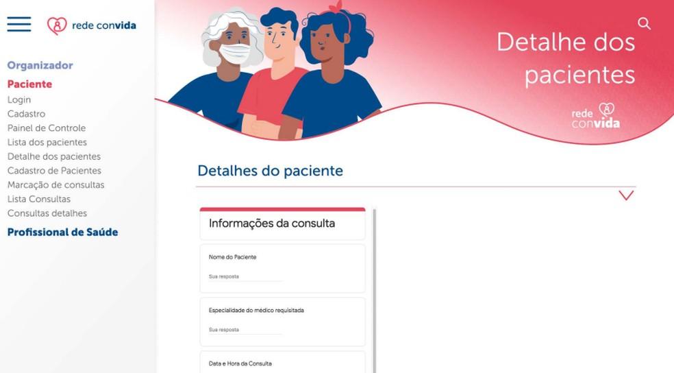 Plataforma Rede Convida para pessoas localizadas em instituições de acolhimento — Foto: Rede Convida/Divulgação