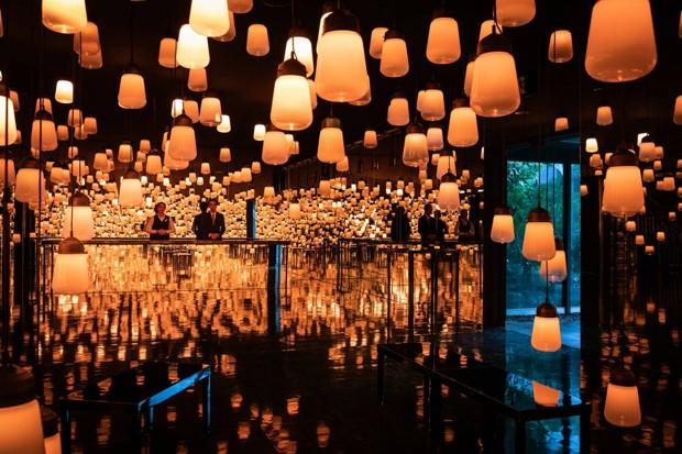 Coletivo cria instalação que reage aos hóspedes em hotel no Japão (Foto: Divulgação)