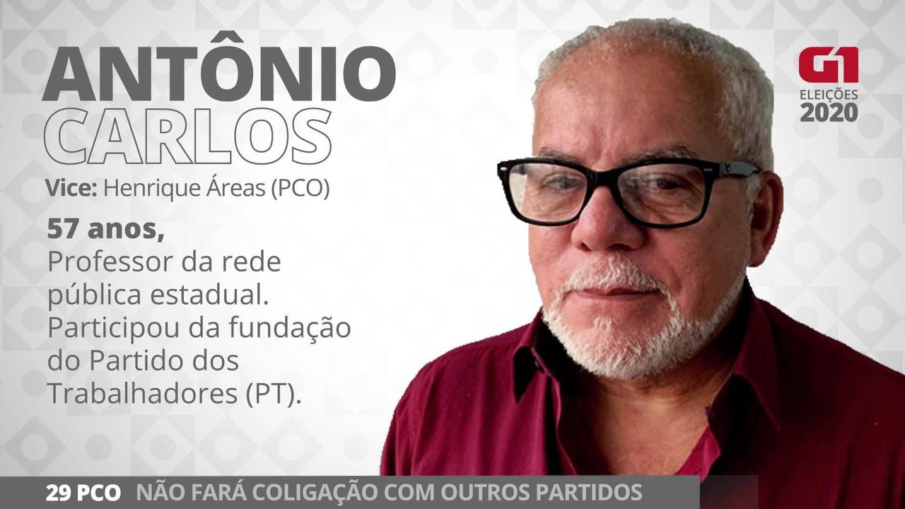 Antônio Carlos é o candidato do PCO a prefeito de SP nas eleições de 2020