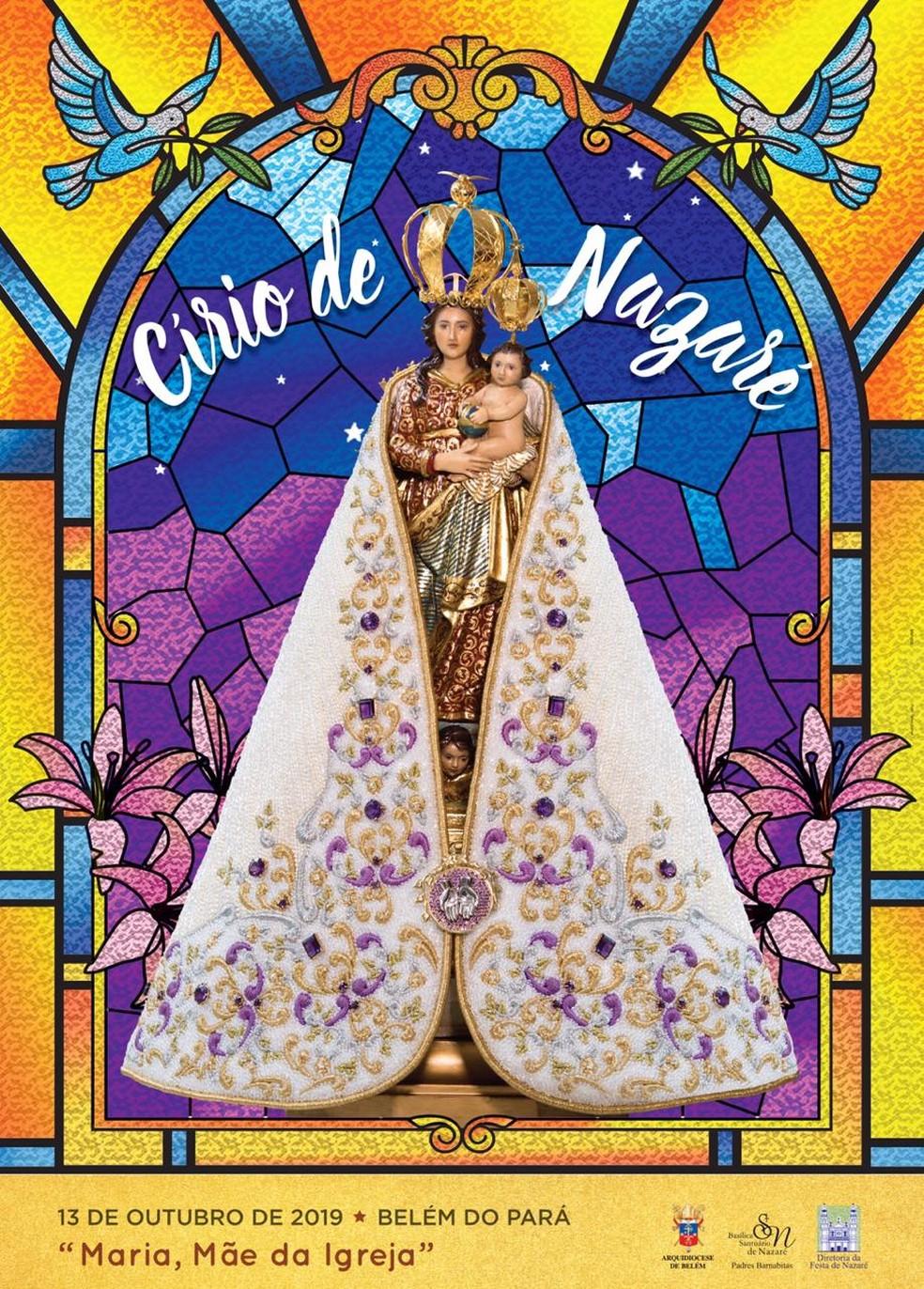 Cartaz do Círio de Nazaré 2019 foi apresentado em Belém. — Foto: Divulgação