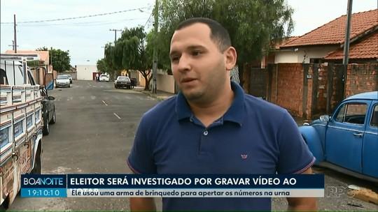 'Foi uma brincadeira', diz eleitor que apertou botões da urna com arma no Paraná