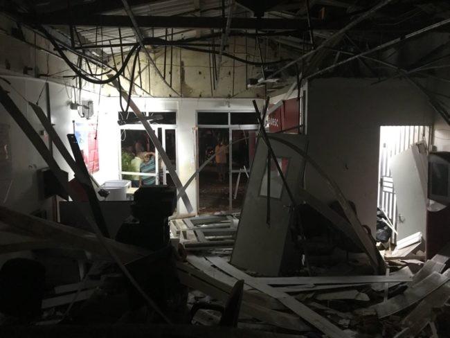 Criminosos explodem agência bancária no Maranhão