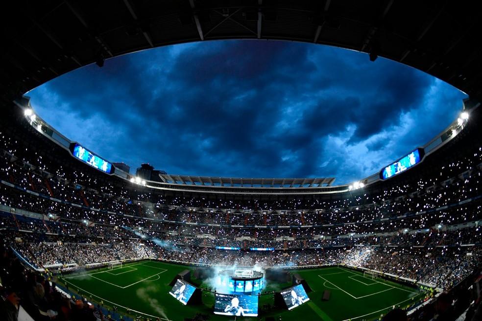Santiago Bernabéu será a sede da final da Libertadores de 2018 — Foto: Twitter/Champions League