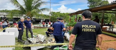 Achados novos destroços do avião onde estava Gabriel Diniz (PF/SE)