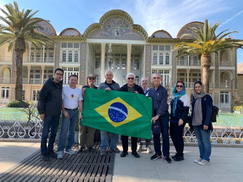 Brasileiros estão há três dias em Teerã, na capital do Irã — Foto: Reprodução/Arquivo pessoal