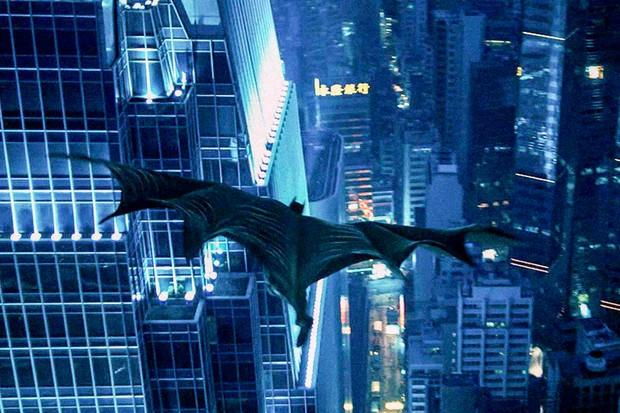 O filme Cavaleiro das Trevas teve cenas filmadas no arranha céu (Foto: Divulgação)