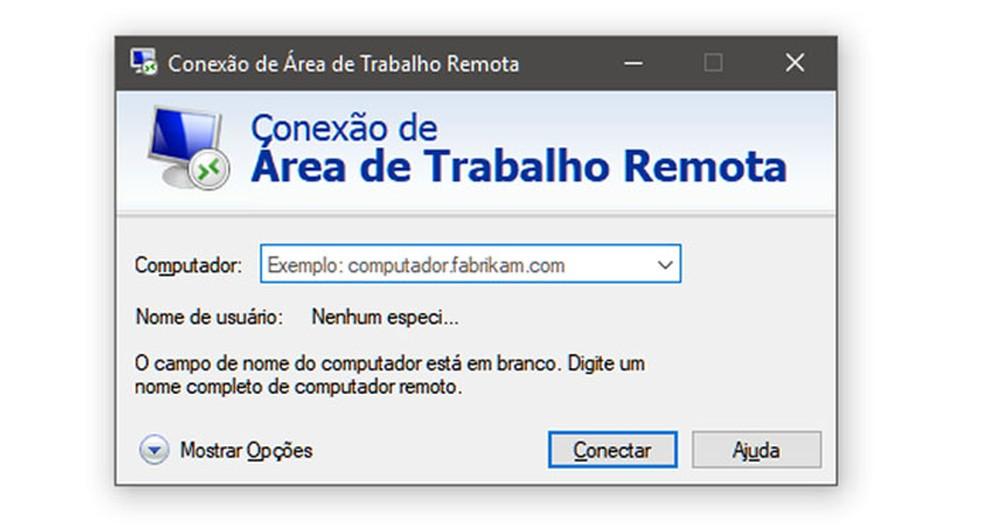 Falha na Área de Trabalho Remota pode ser explorada por vírus, segundo a Microsoft. Recurso facilita trabalho de técnicos e analistas em empresas. — Foto: Reprodução