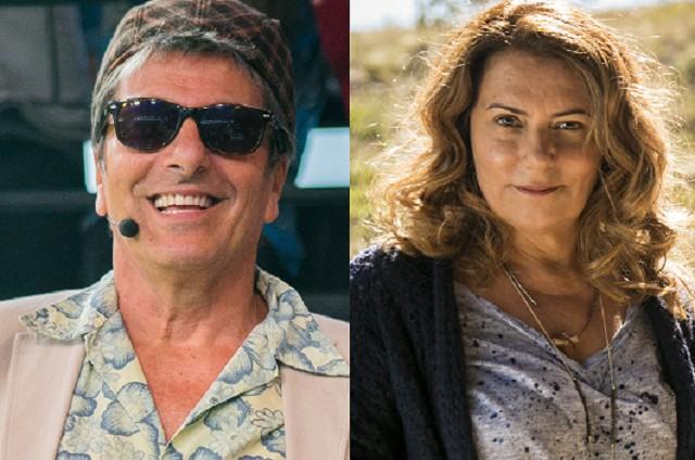 Evandro Mesquita e Patricya Travassos (Foto: Raquel Cunha e João Miguel Júnior/TV Globo)