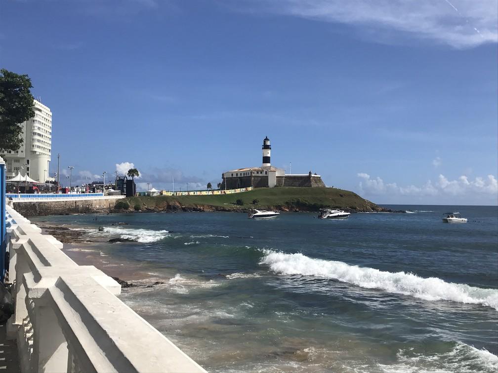 10a957ff1fc7 ... Farol da Barra um dos principais pontos turísticos de Salvador — Foto:  Tiago Caldas/