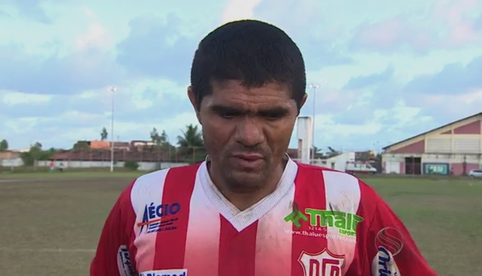 Dagil, ex-Dorense, é o novo atacante do Frei Paulistano (Foto: Reprodução/TV Sergipe)