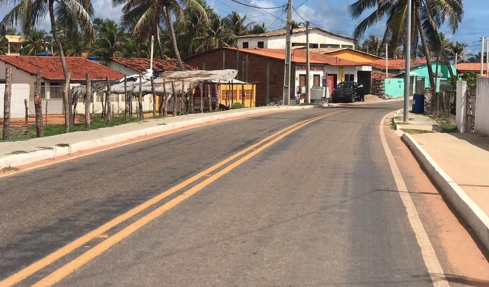 Crime aconteceu em casa na praia de Barreta, em Nísia Floresta, no Litoral Sul potiguar — Foto: Kleber Teixeira/Inter TV Cabugi