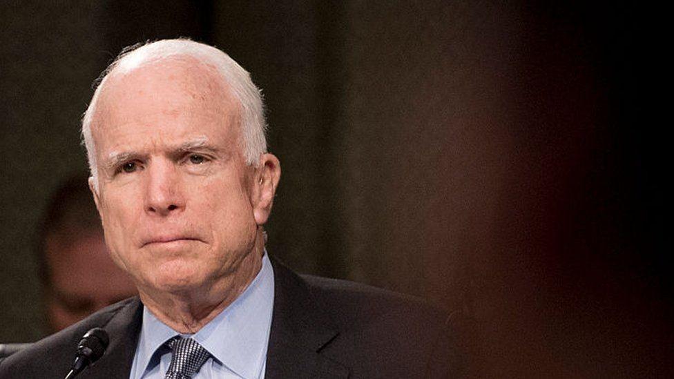 John Mccain morreu em decorrência de um tumor no cérebro. Ele era senador, veterano de Guerra e foi candidato à presidente dos EUA (Foto: Getty Images)